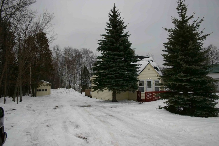 This is a view of our cottage in the winter.